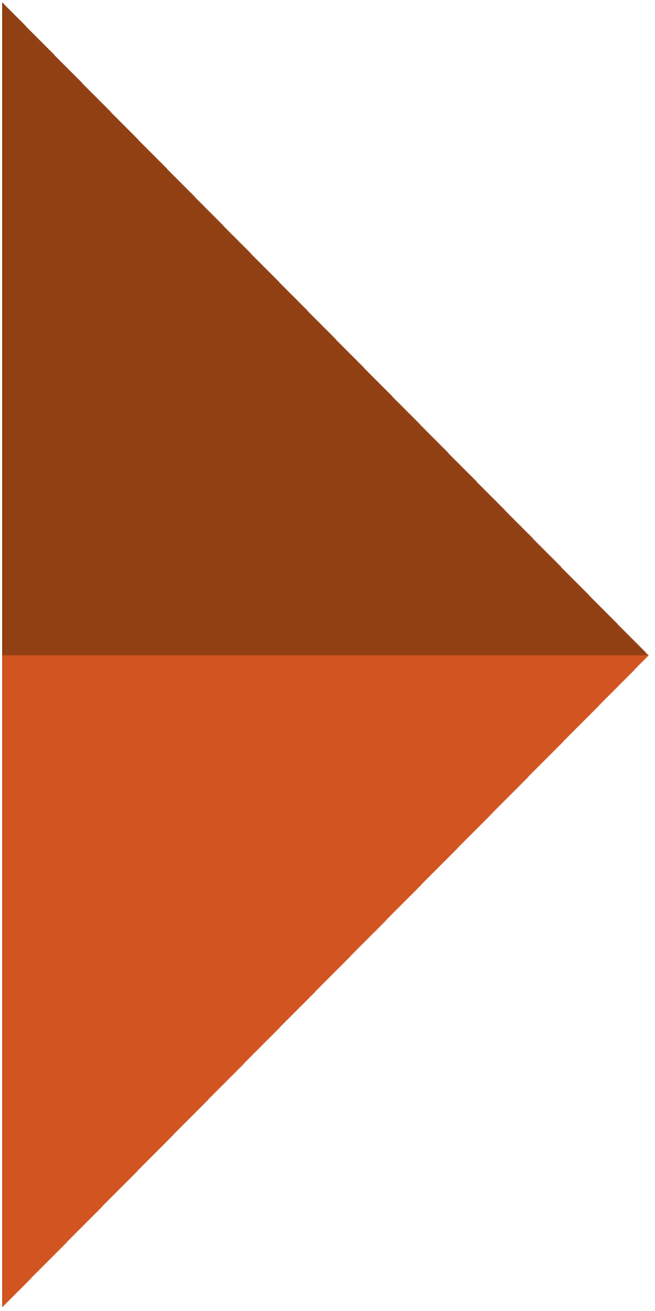 Small orange chevron graphic arrow