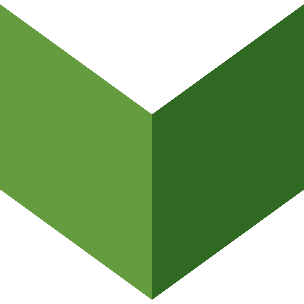 Large green chevron graphic arrow